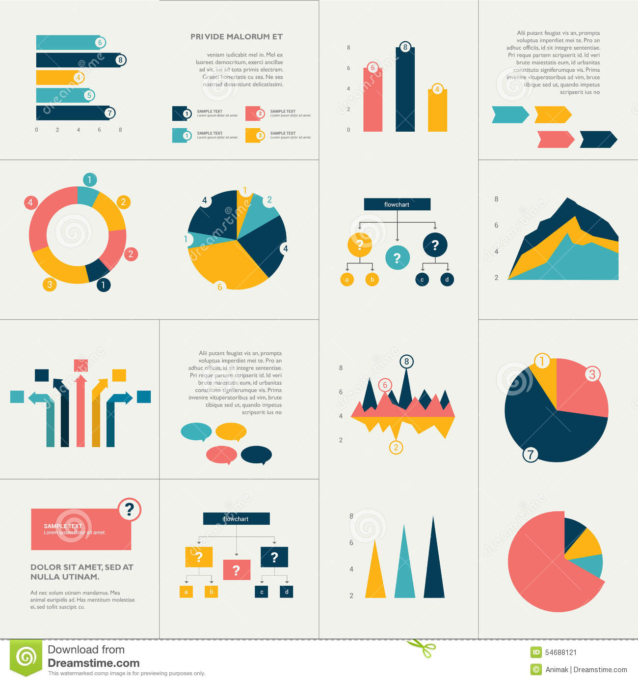 Info Graphics Set. Stock Vector. Illustration Of Graphs