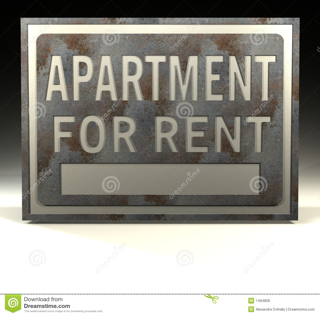Apartment For Rent Sign: Info Sign Apartment Rent Stock Illustrations