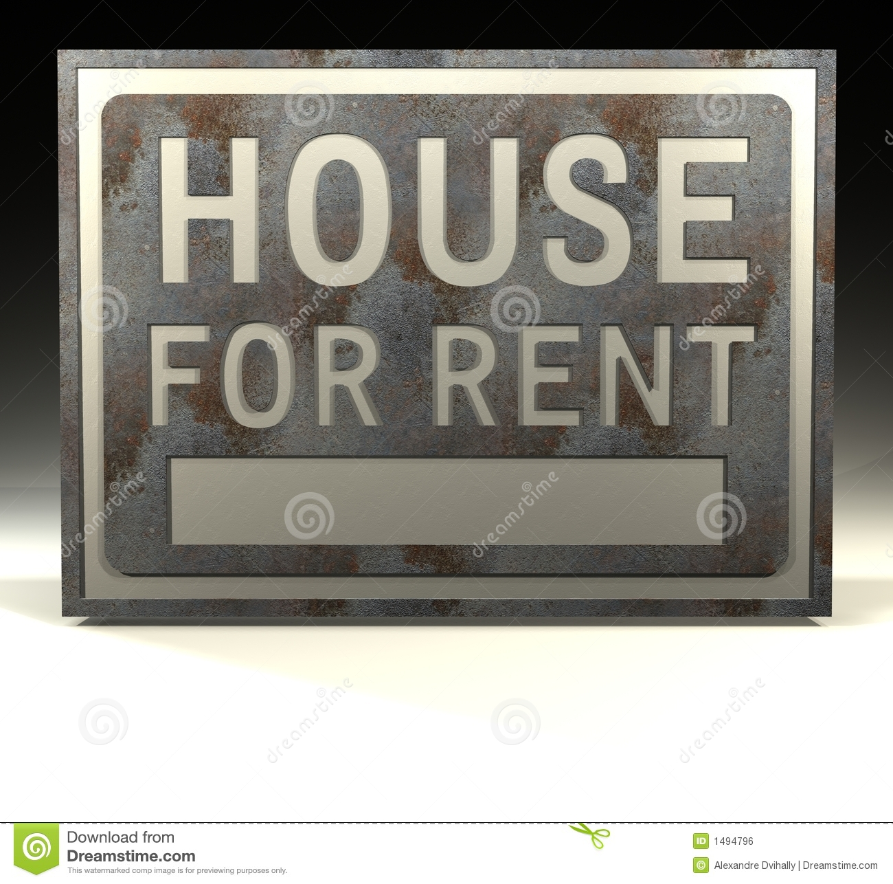 Rent Ocm: Info Sign House For Rent Royalty Free Stock Image