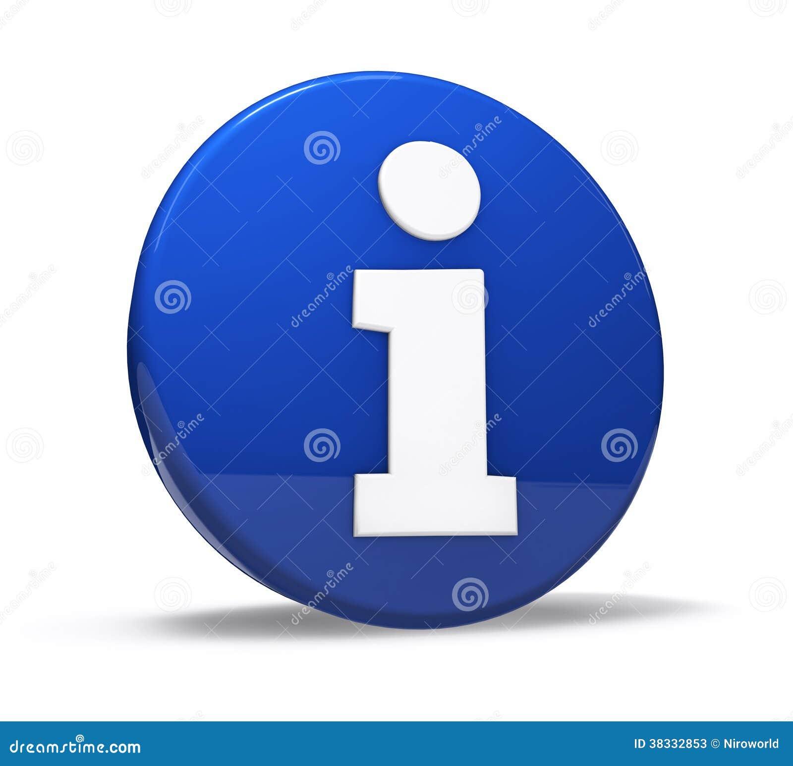 Information Site: Info Symbol Web Button Stock Illustration. Illustration Of