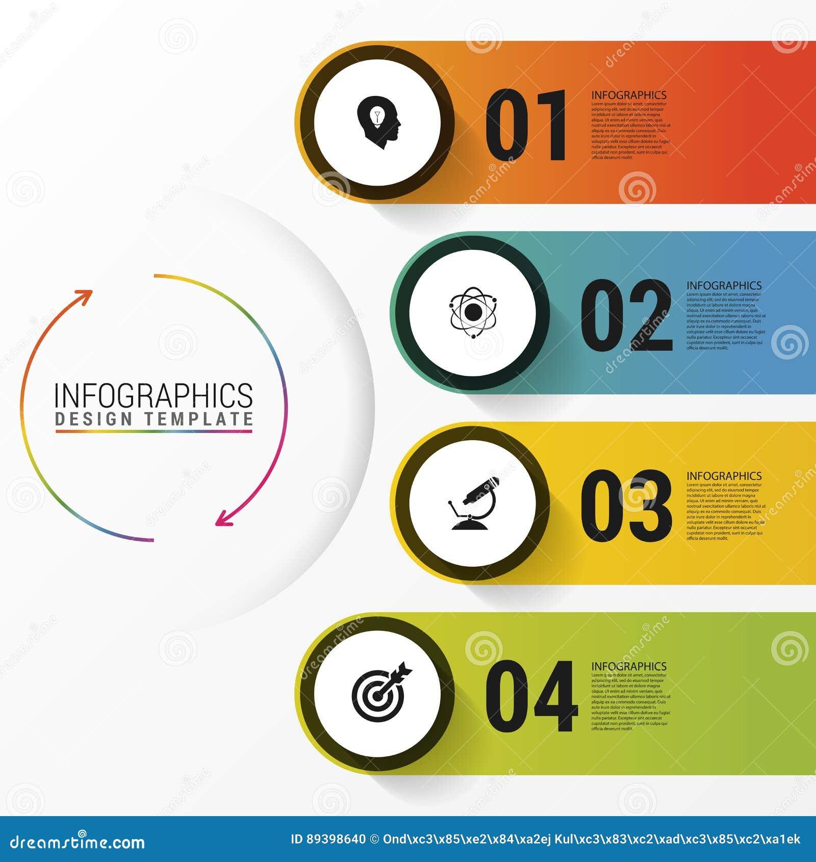 Infographic与象的报告模板 到达天空的企业概念金黄回归键所有权