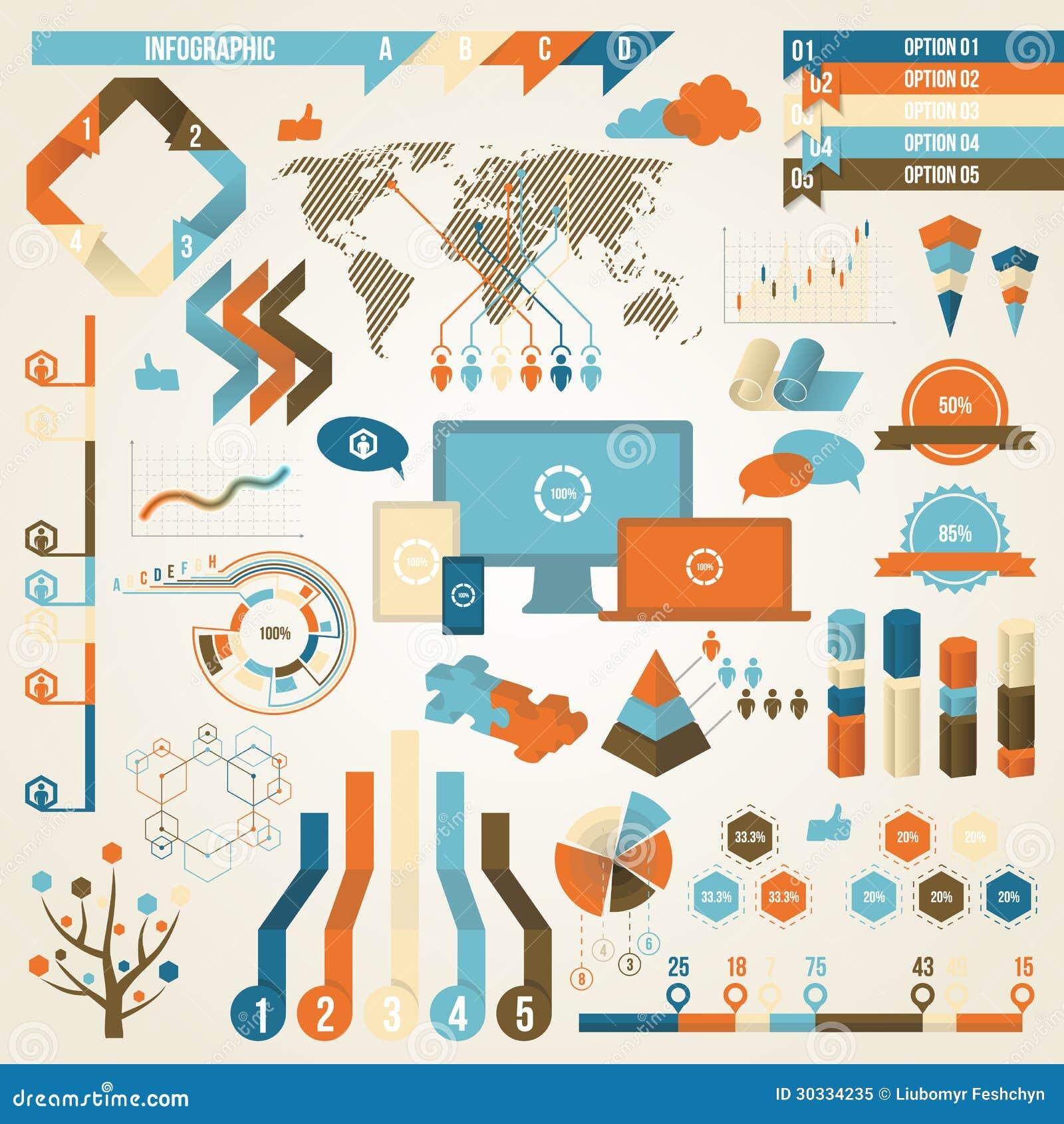 Infographic元素和通信概念