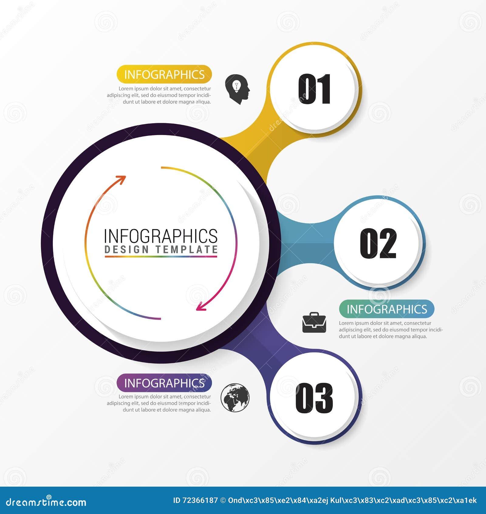 Infographic在灰色背景的设计圈子 向量