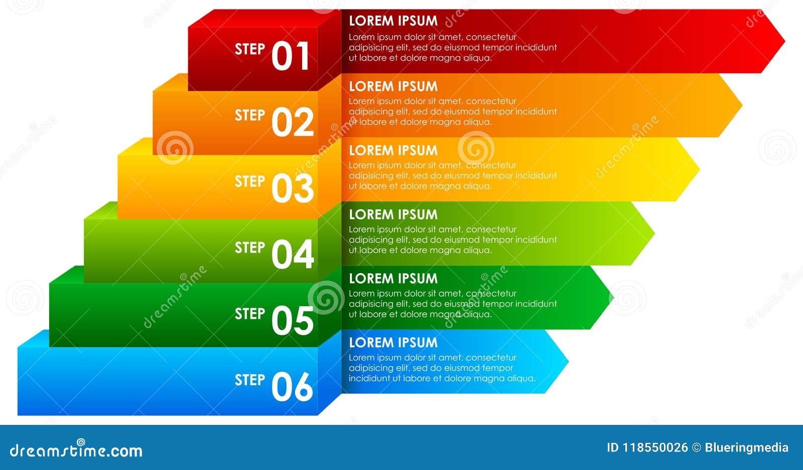 Infographic彩虹下降的信息