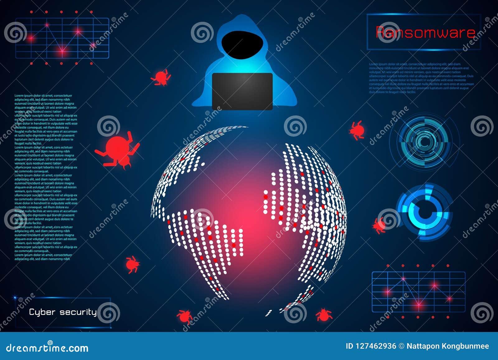 Infographic摘要技术概念信息ransomwar