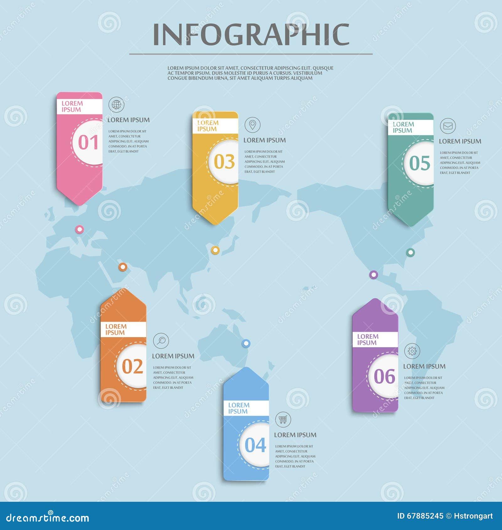 朴素infographic模板