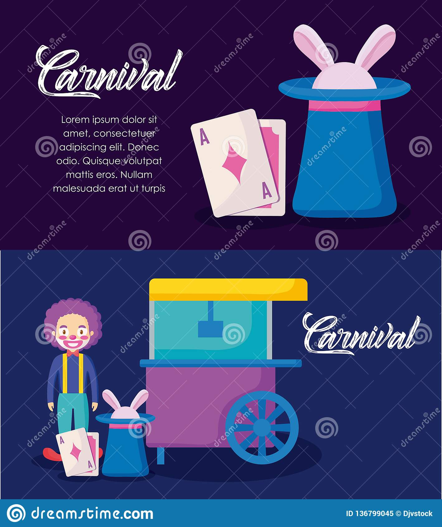 Infographic εικονίδια εορτασμού καρναβαλιού