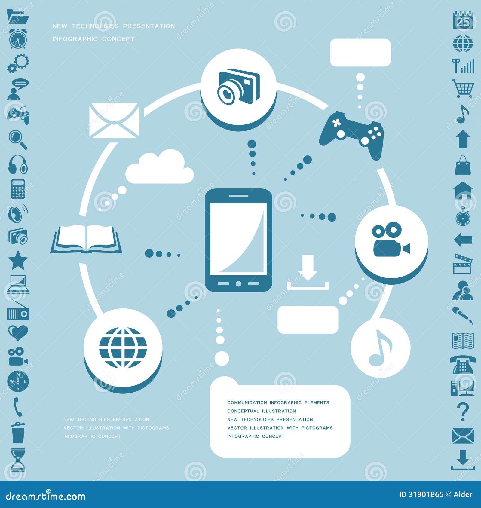 26589207033d Infographic στοιχεία επικοινωνίας Διανυσματική απεικόνιση ...