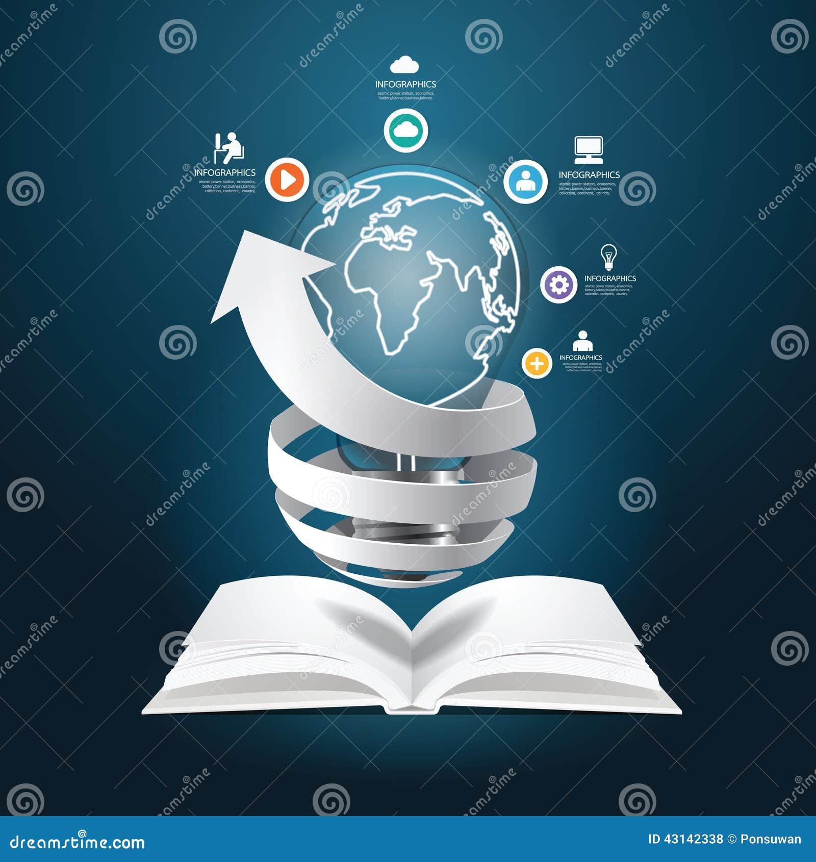 Infographic завертывает стиль в бумагу отрезка бумаги диаграммы книги диаграммы творческий