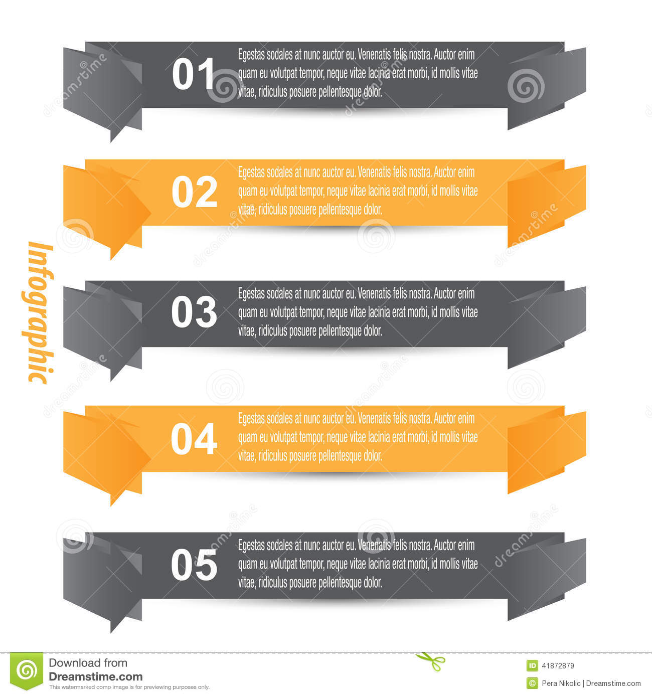 Design elements banner - Royalty Free Vector Download Infographic Banner Design Elements