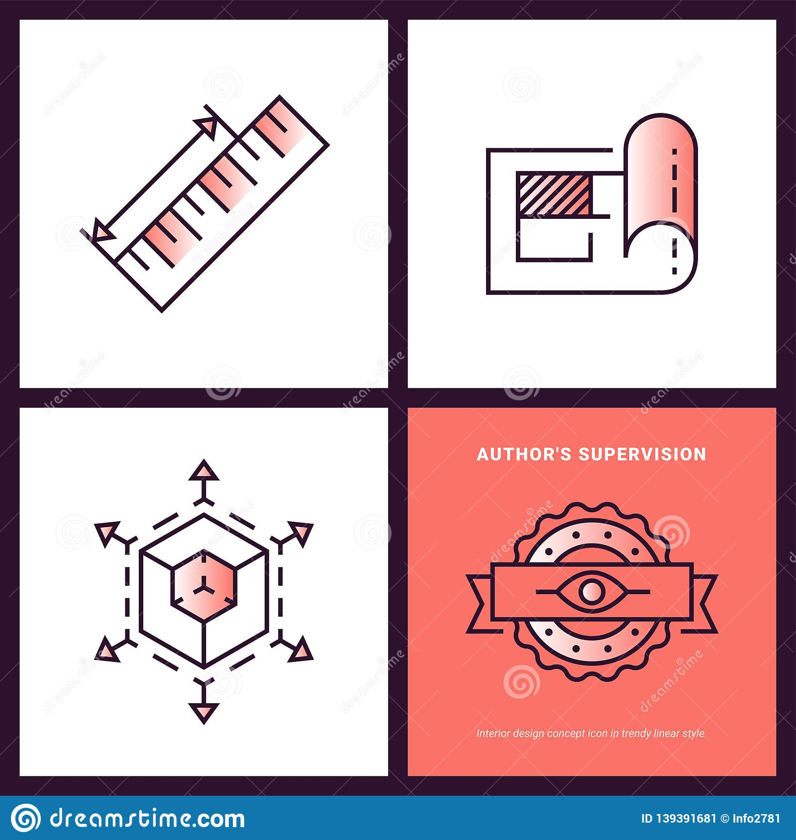Infographic Banner Of Interior Design Process. Concept