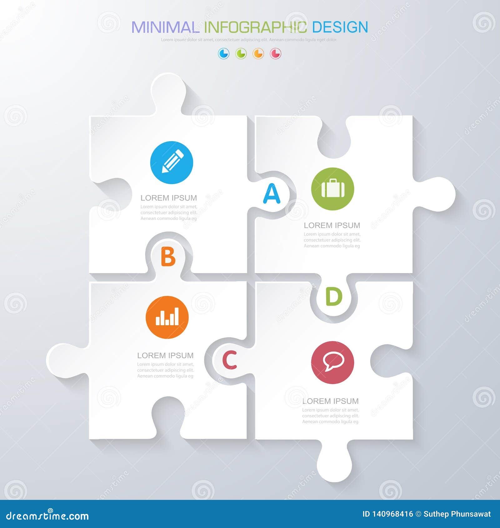 Infographic beståndsdelar med affärssymbolen på bakgrundsprocess för full färg eller moment och alternativworkflowdiagram, vektor