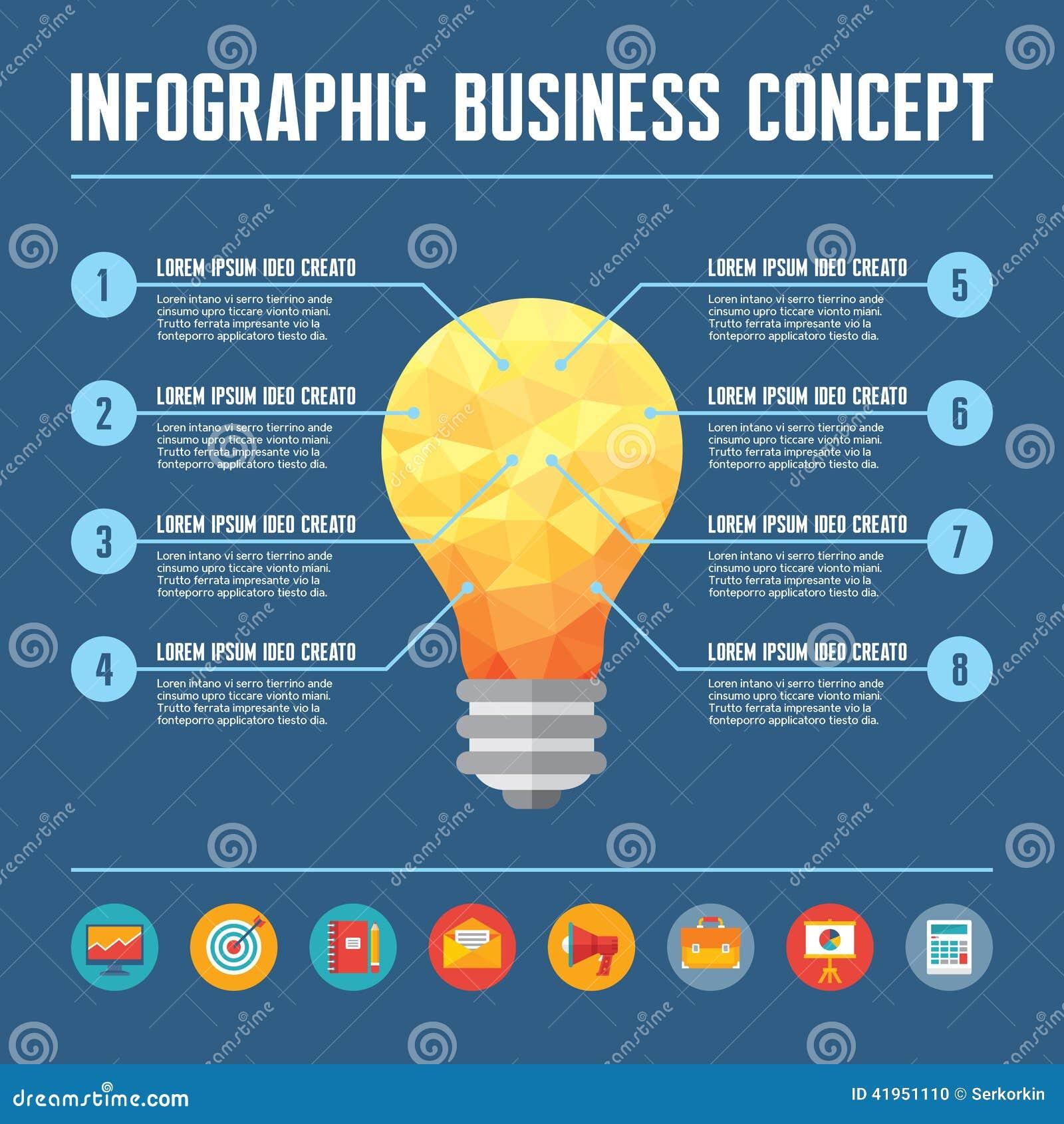 Infographic Biznesowy poj?cie - Kreatywnie pomys? ilustracja
