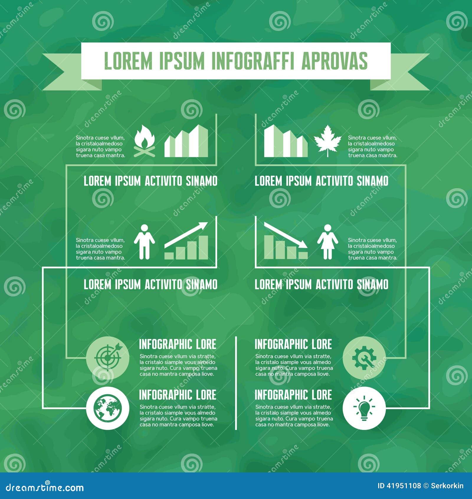Infographic Biznesowy pojęcie w Zielonym kolorze