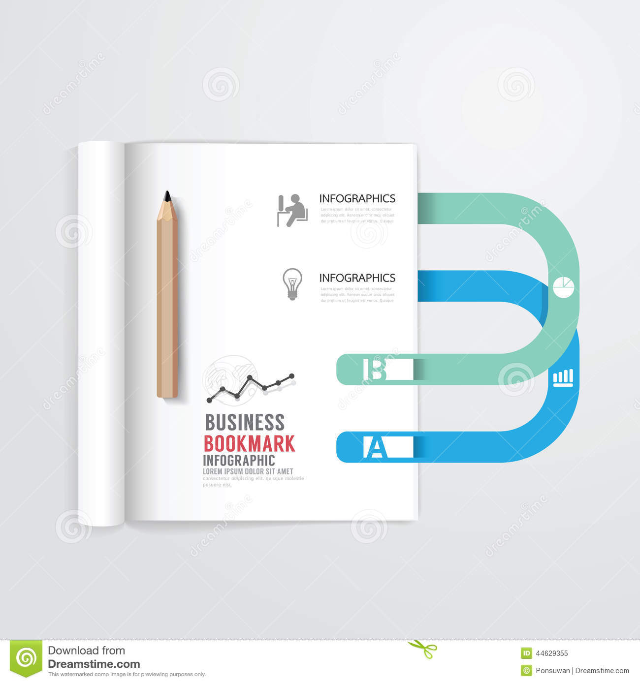 How To Make A Book Cover Using Illustrator : Template open a blank notepad vector personal notebook