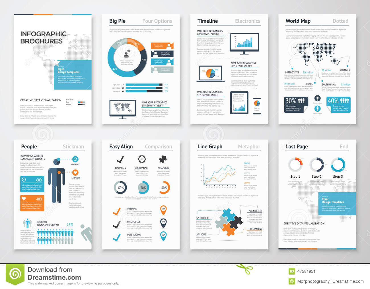 infographic brochure elements for business data