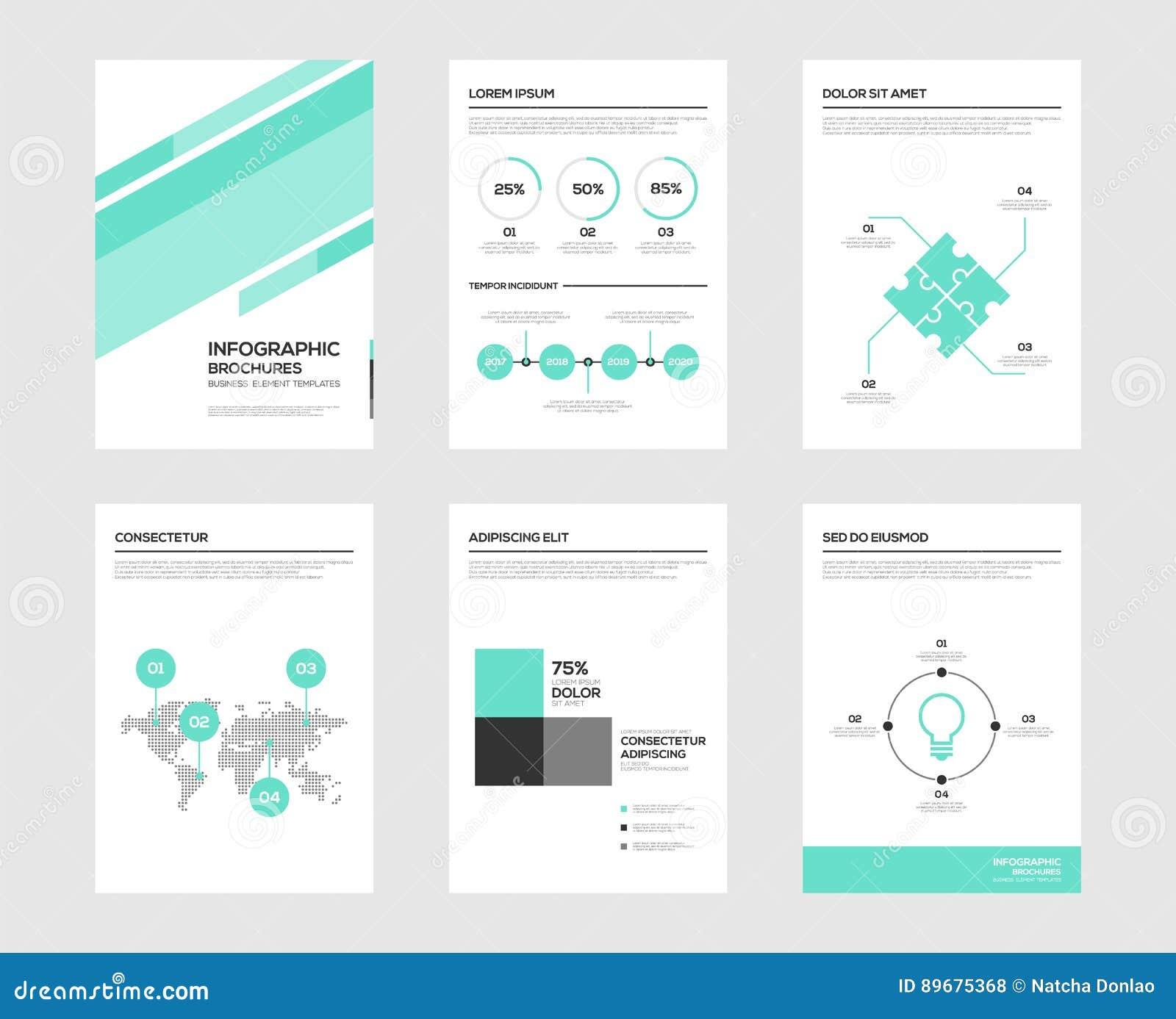 Infographic-Broschürenelemente für Sichtbarmachung der kommerziellen Daten