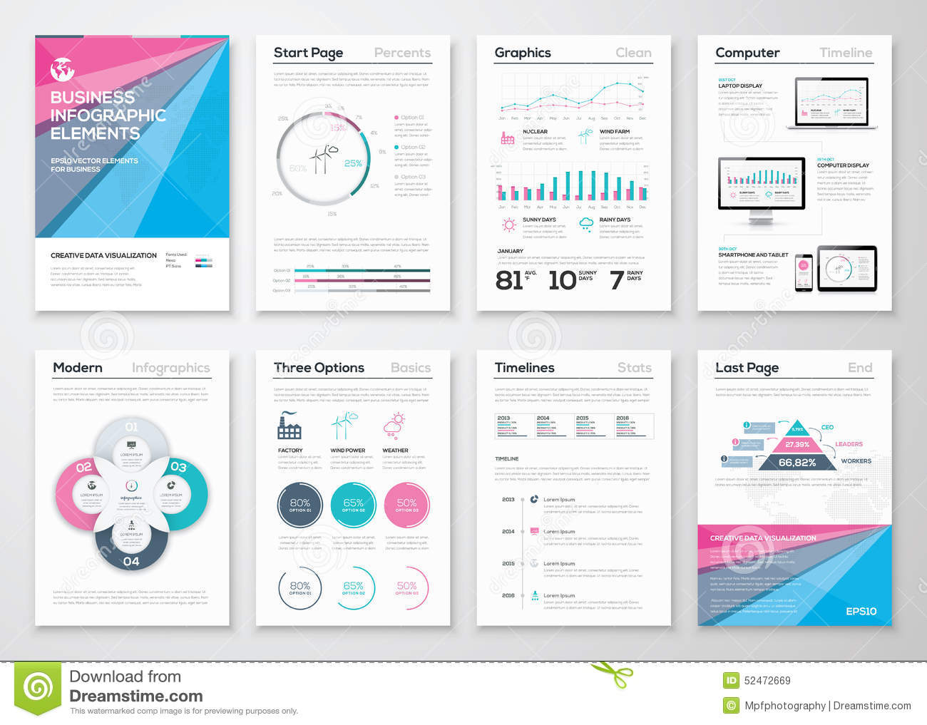 Infographic Business Brochure Templates For Data Visualization ...