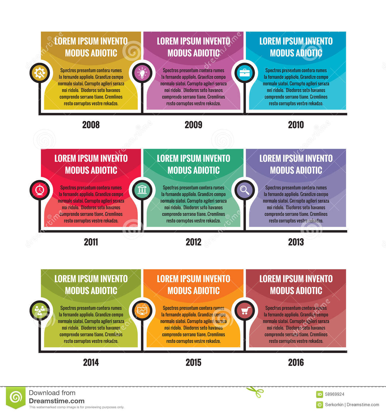 Infographic business concept in flat design style timeline vector download comp cheaphphosting Images