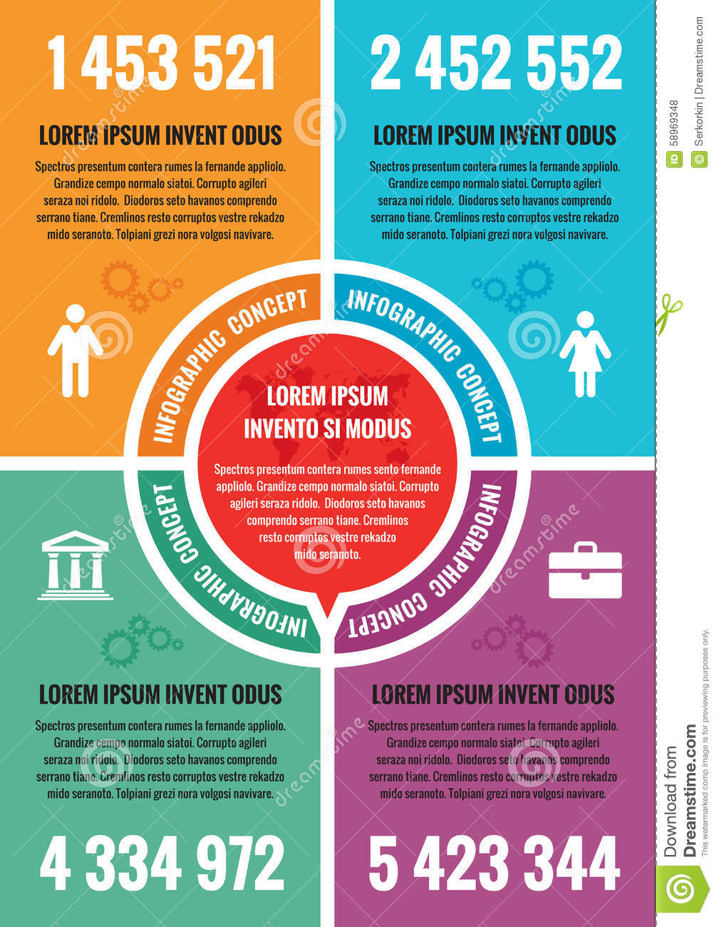 ... concept - vector layout A4 format. Vector infographic template