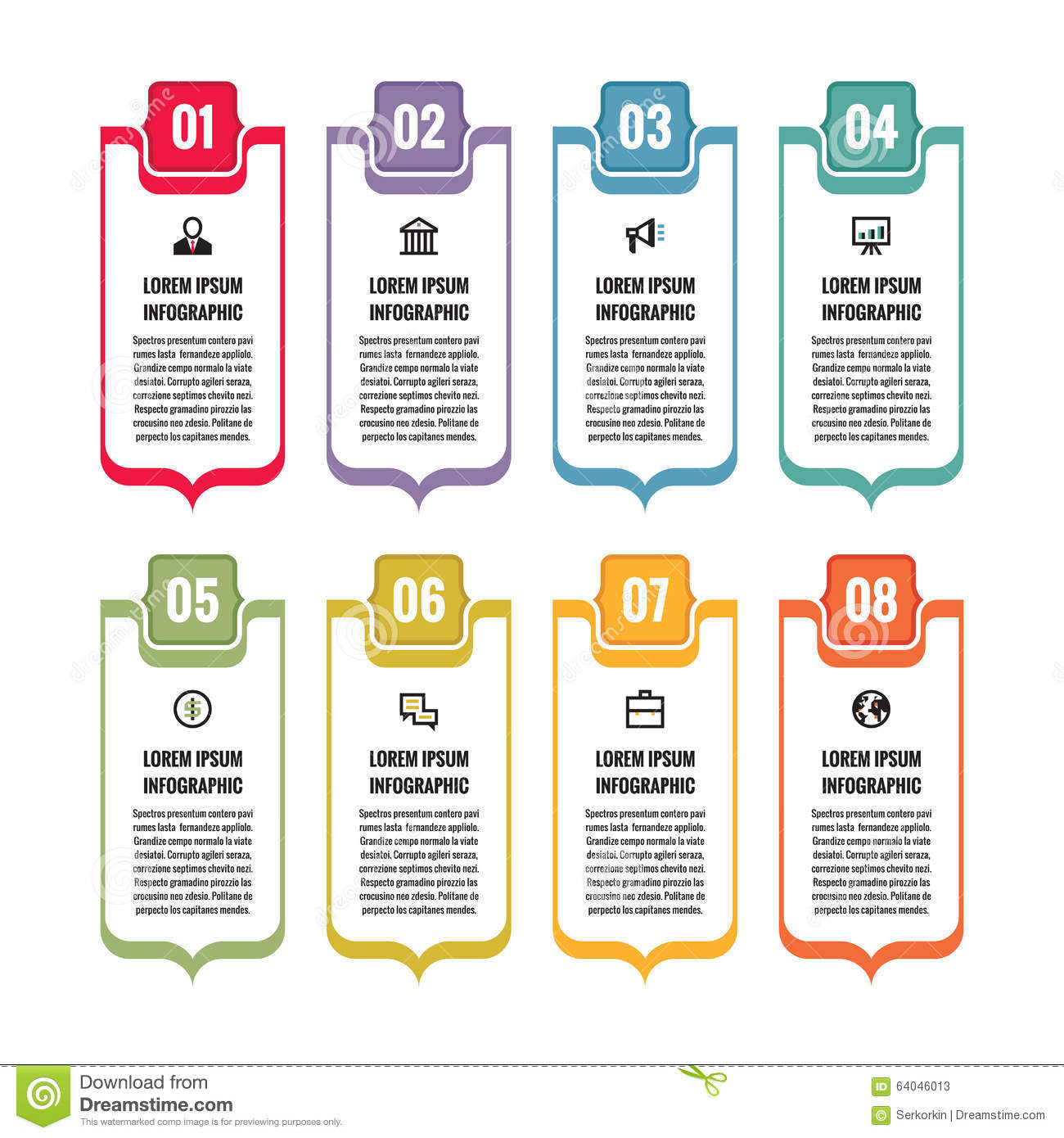 Infographic Business Concept Vertical Vector Banners
