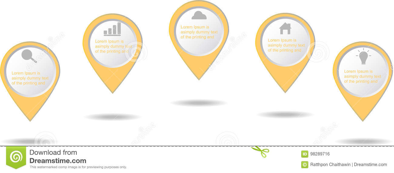 Infographic business elements icon
