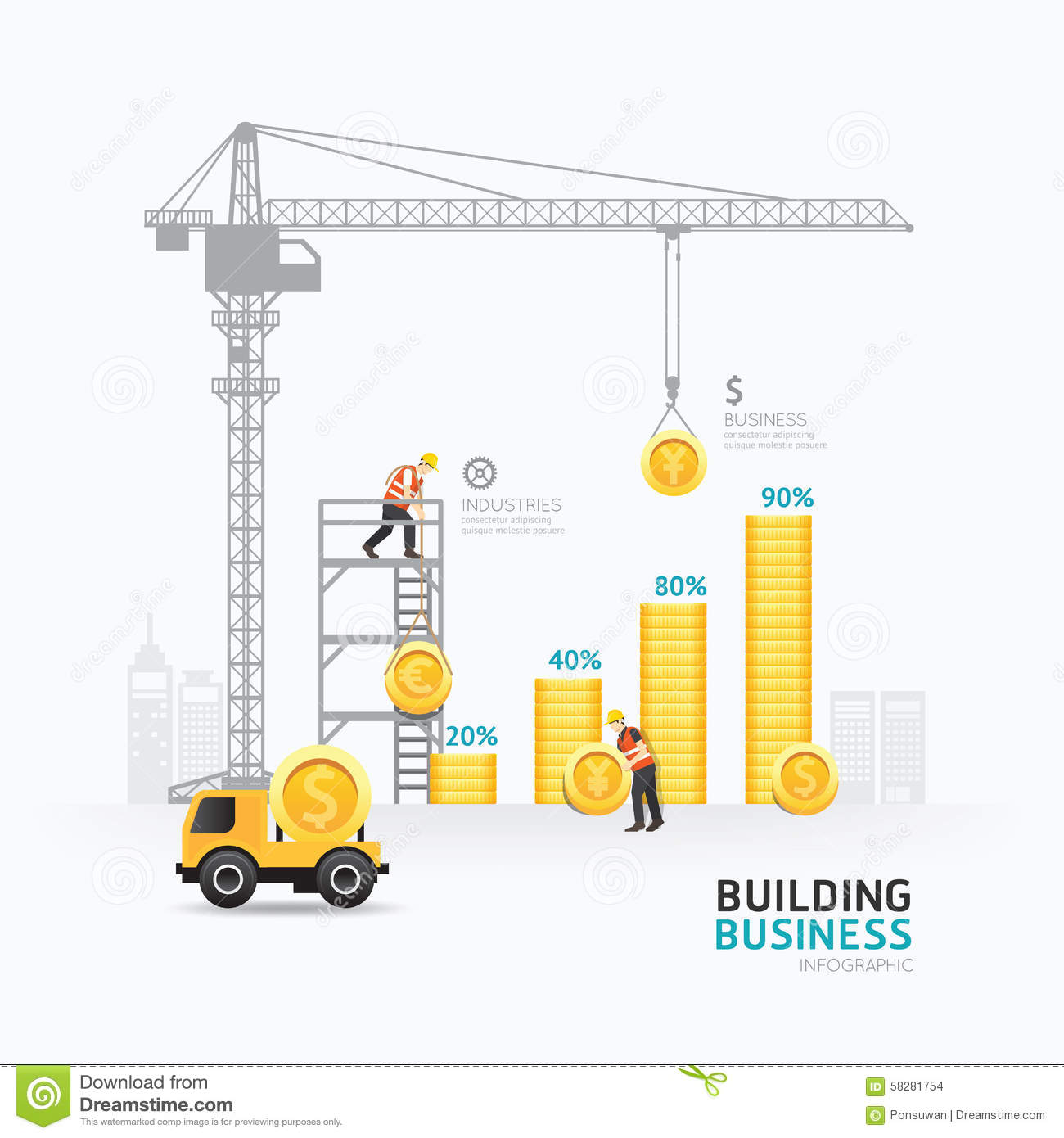 Infographic business money graph template design stock vector image 58281754 - Build house plans online free concept ...