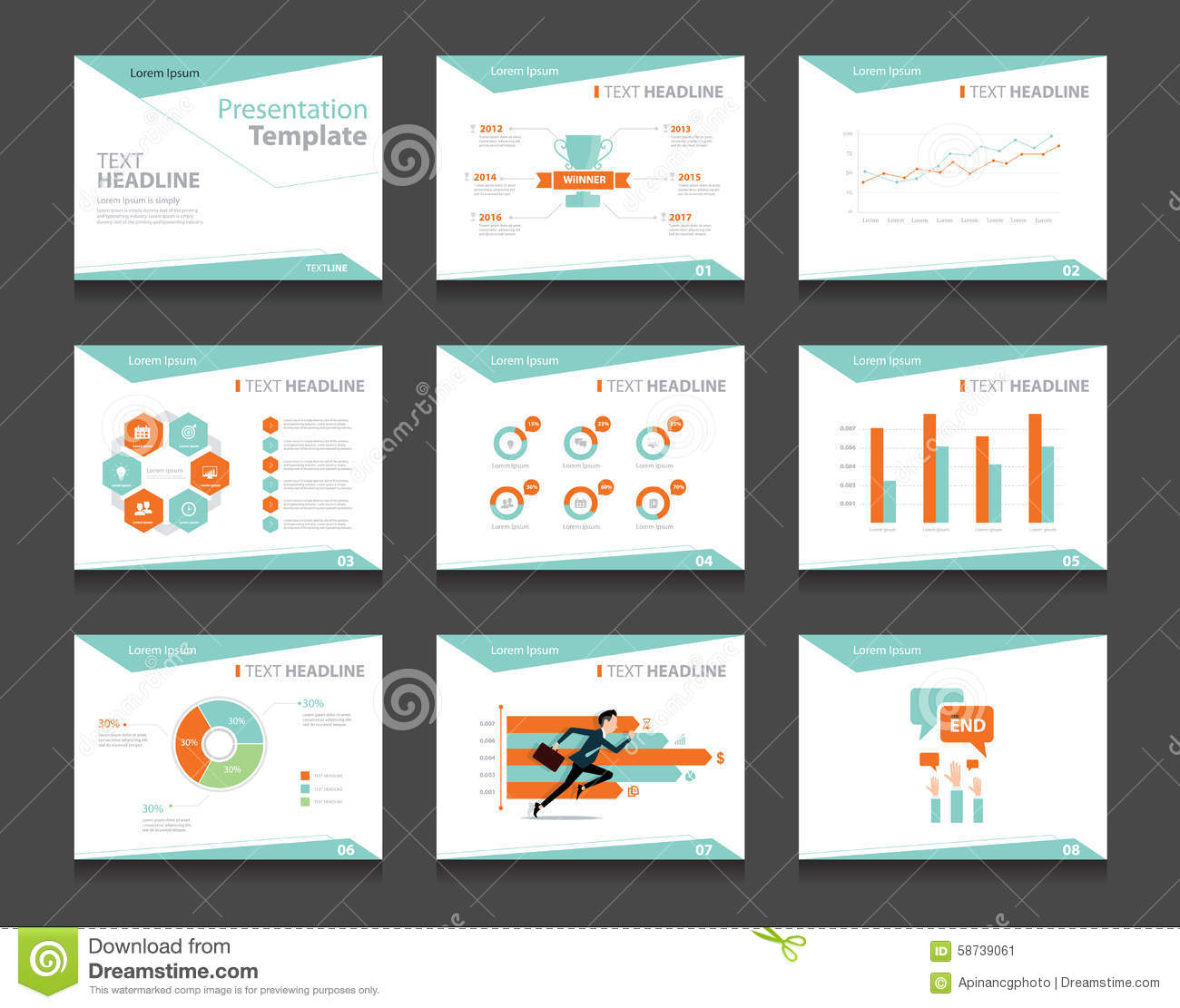 infographic business presentation template set. powerpoint template