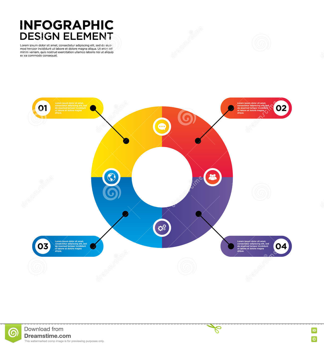 infographic business report layout design element illustration