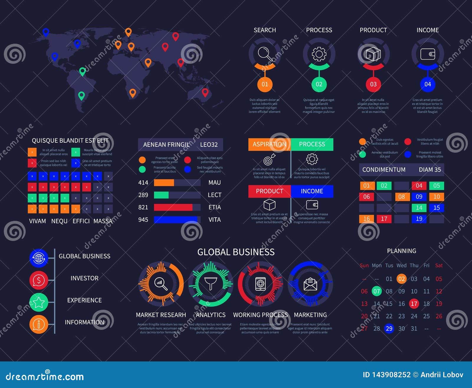 Infographic Chart Analysis Dashboard Data Info Chart World ...