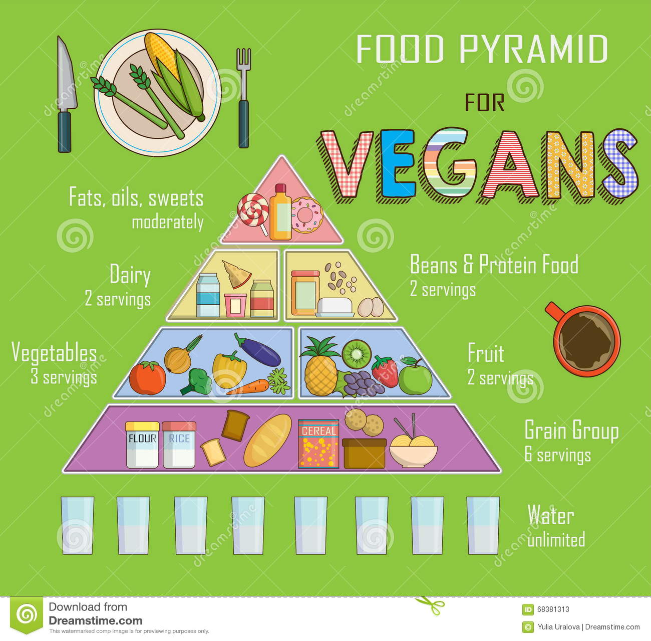 infographic chart illustration of a food pyramid for vegetarian nutrition shows healthy food. Black Bedroom Furniture Sets. Home Design Ideas