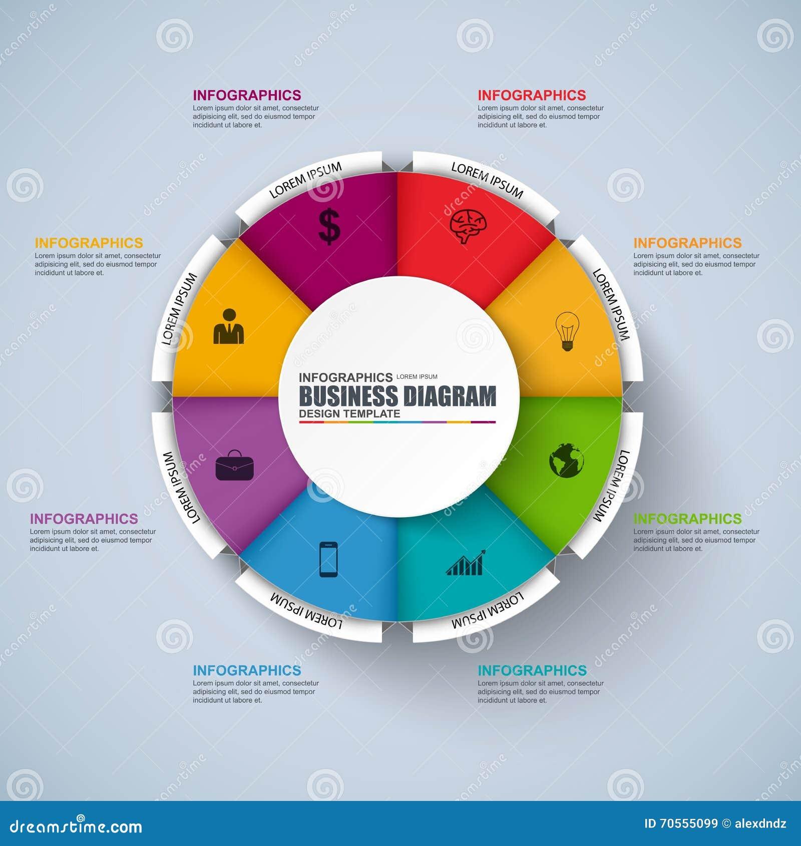 Infographic Circular Vector Design Template Stock Vector
