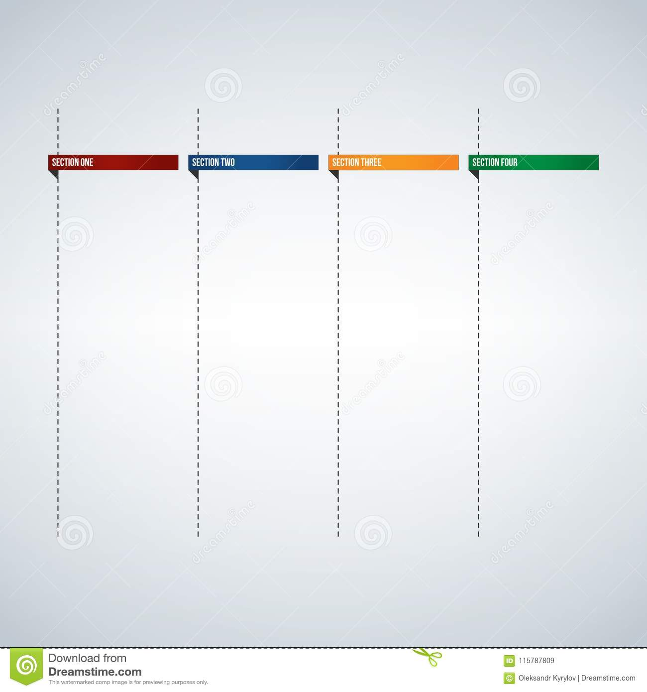 infographic columns for text box or banners template colorful tabs