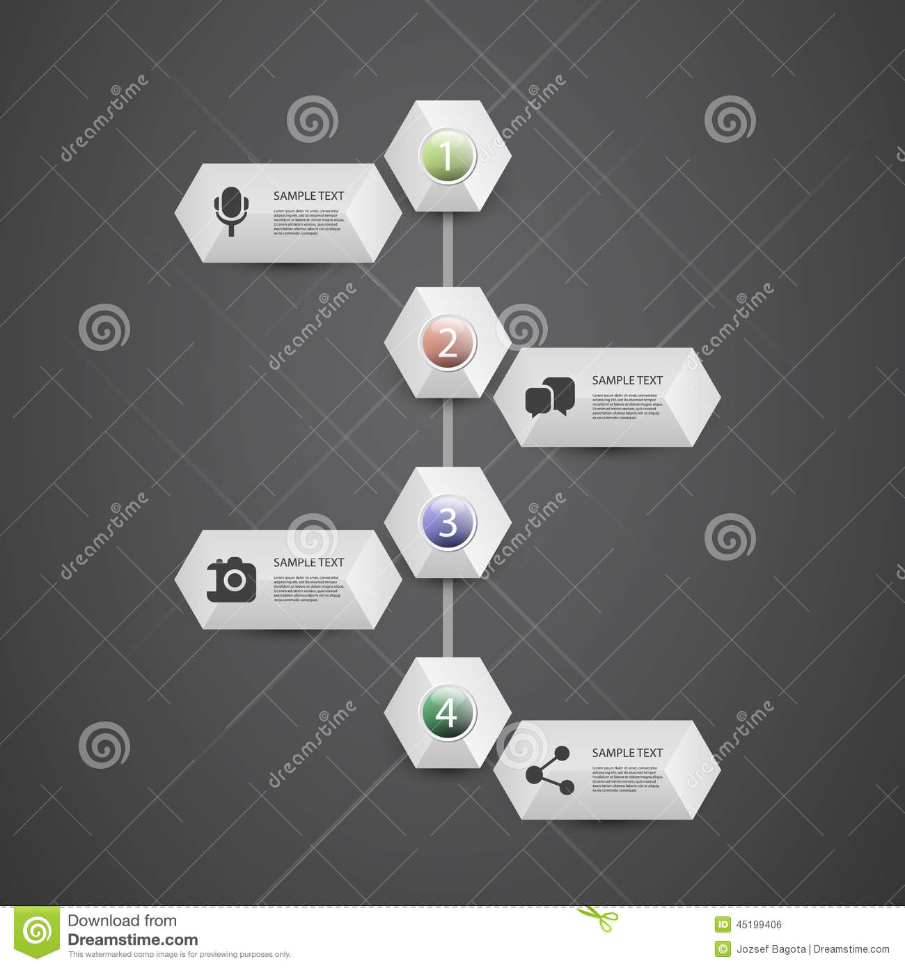 Infographic Concept Flow Chart Design Timeline Stock
