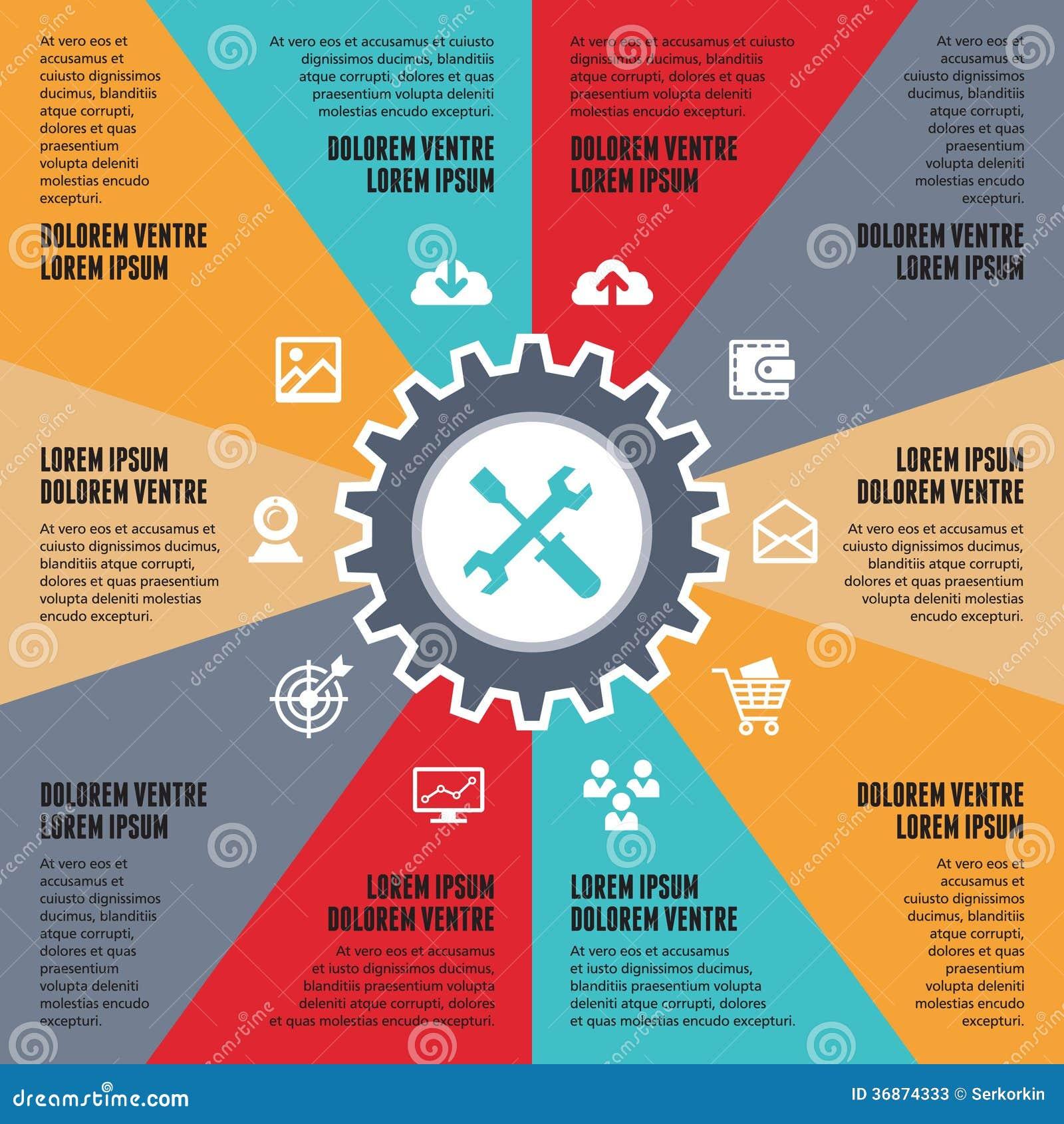 Infographic Concept For Presentation - SEO Internet Vector Scheme ...