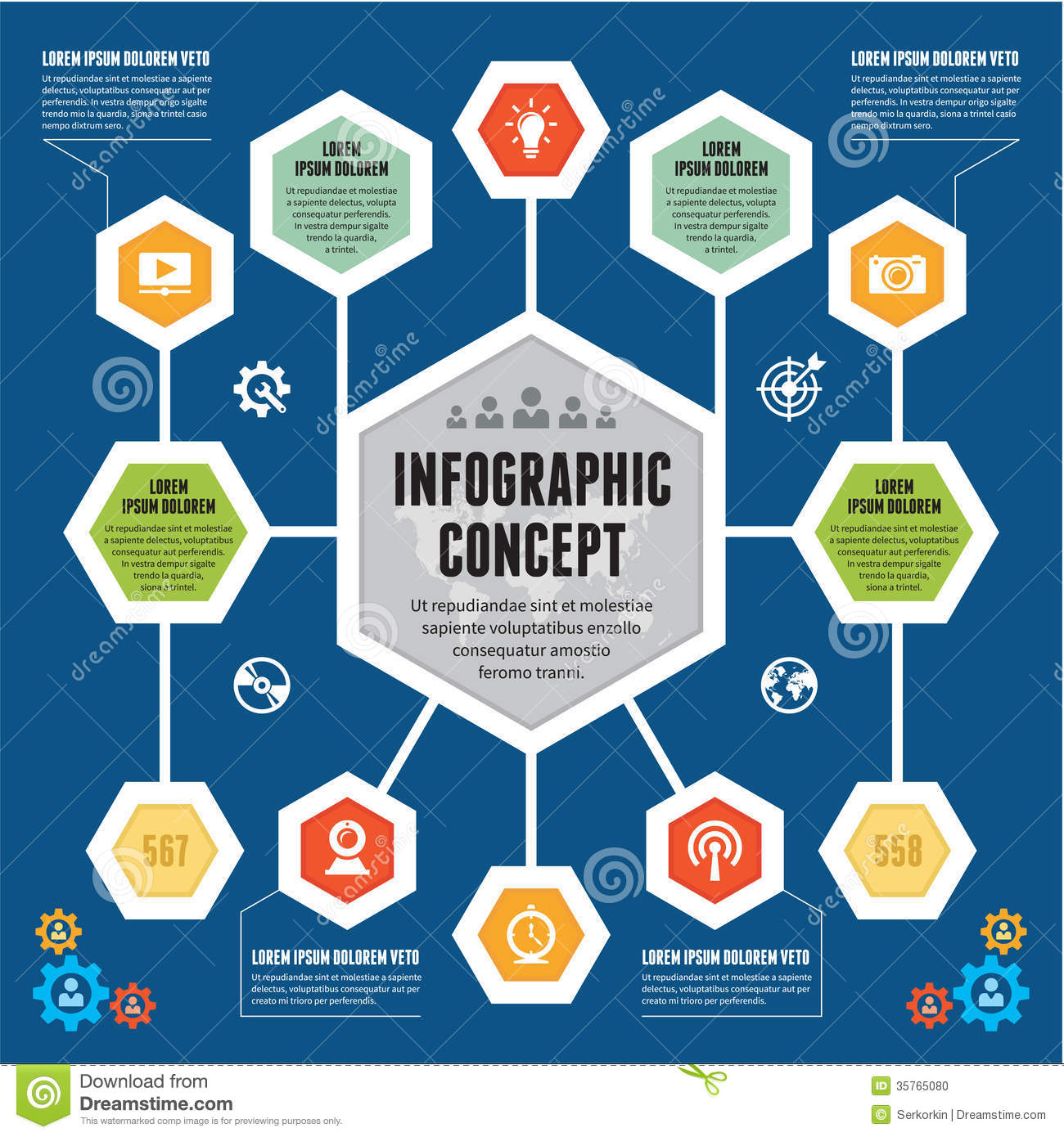 Infographic Concept - Vector Scheme With Icons - Modern ...