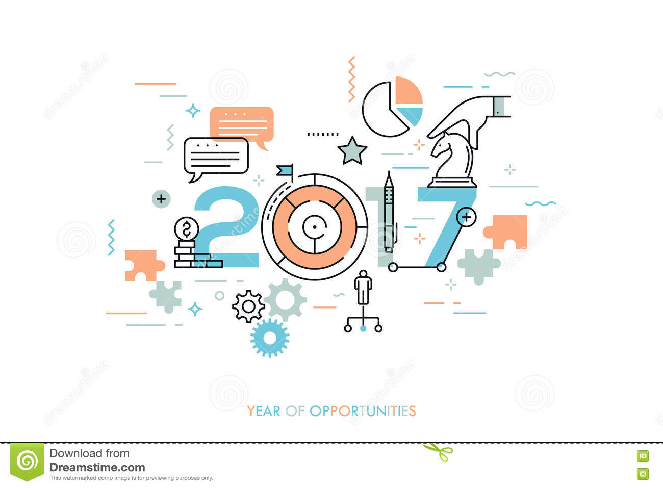 infographic concept year of opportunities stock vector infographic concept 2017 year of opportunities