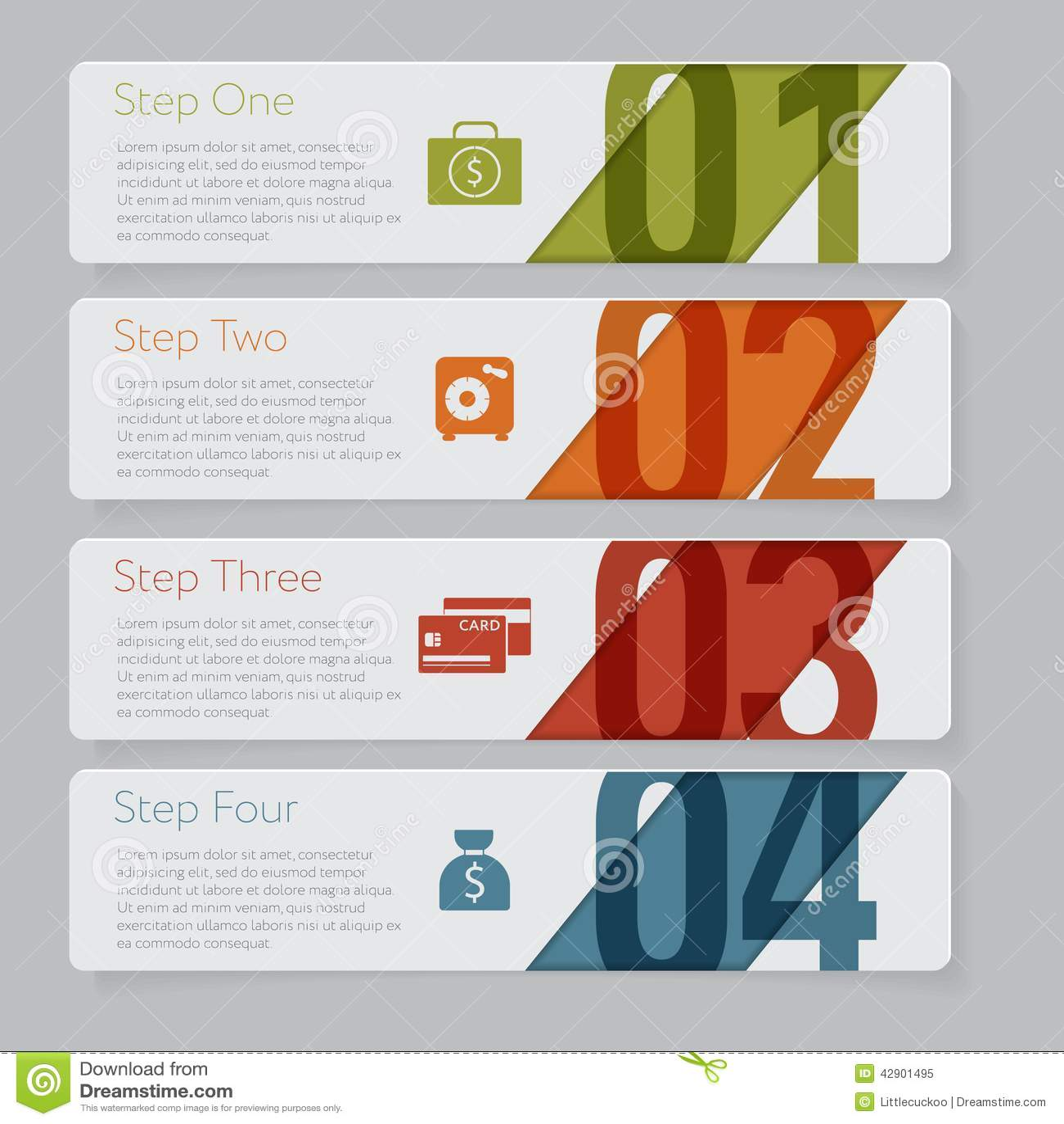 Infographic Concevez le graphique de calibre de bannières de nombre ou la disposition de site Web