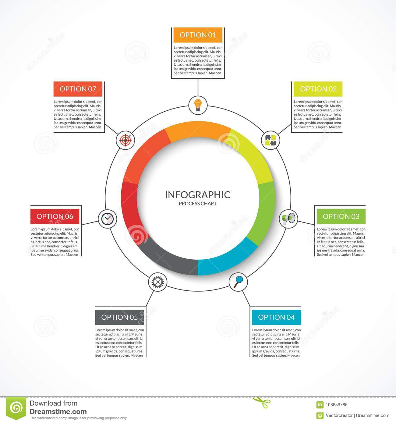 Infographic Cycle Diagram  Process Chart With 7 Options