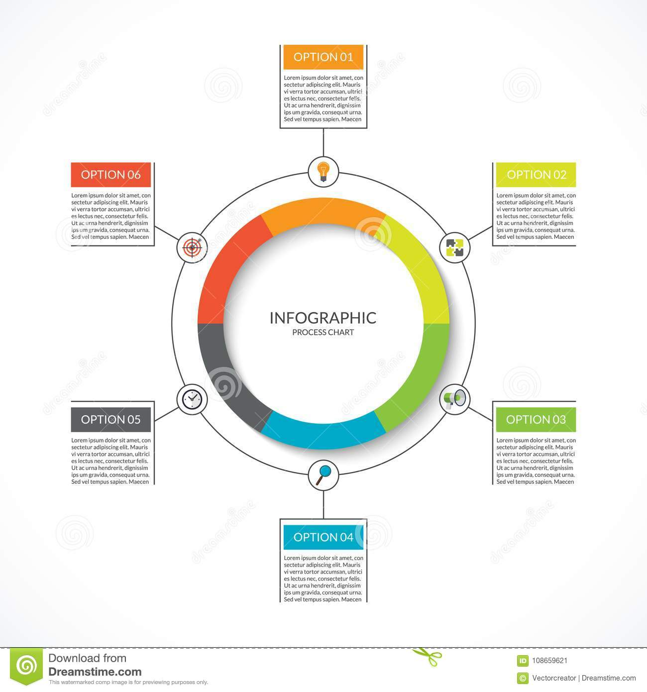 Infographic Cycle Diagram  Process Chart With 6 Options
