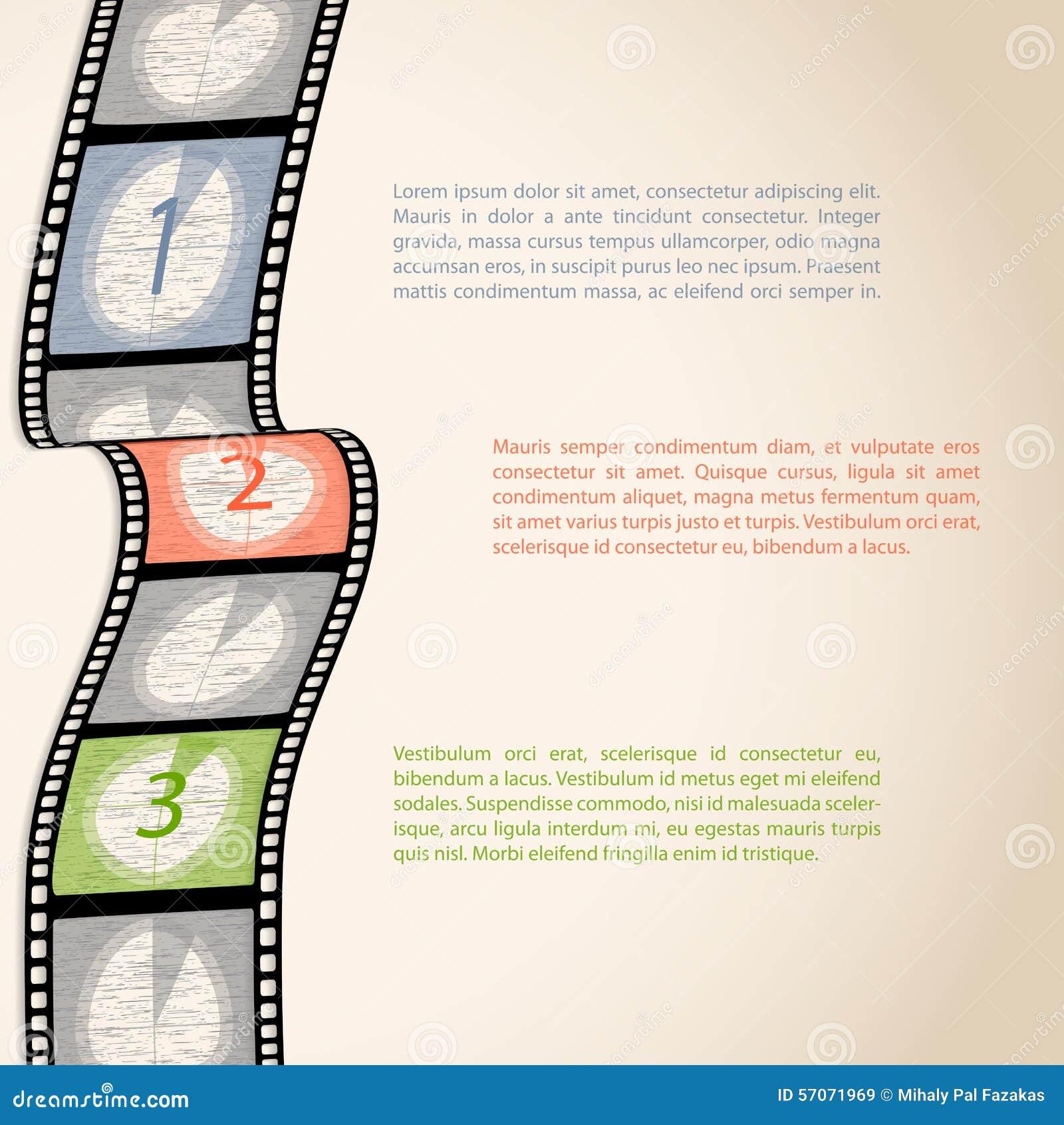 Infographic de aftelprocedure van de filmstrook