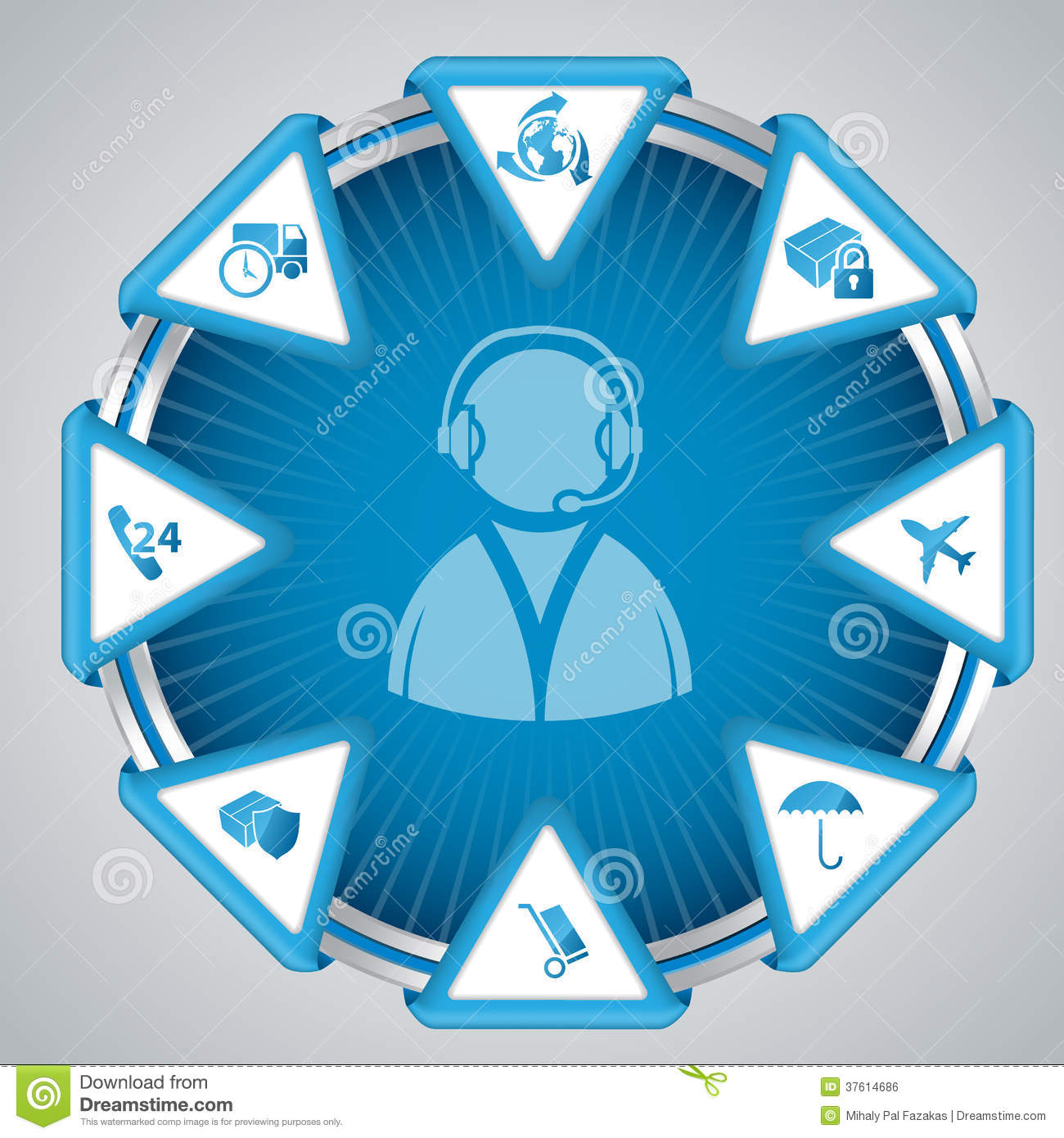 Infographic Design With Call Center Symbol Royalty Free Stock Image ...