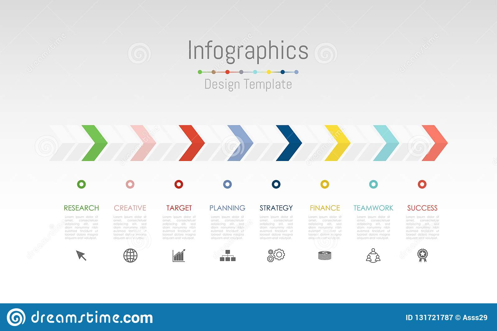 Infographic design elements for your business data with 8 options, parts, steps, timelines or processes. Vector
