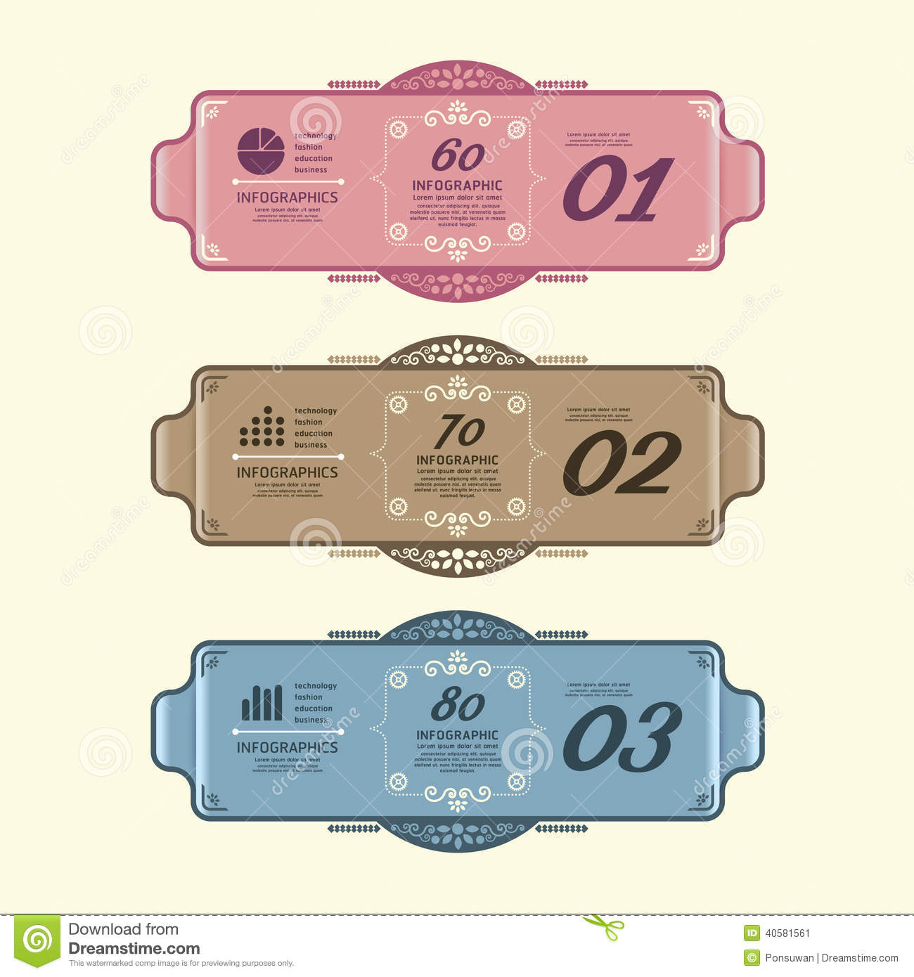 infographic design modern vintage labels template. stock vector, Powerpoint templates