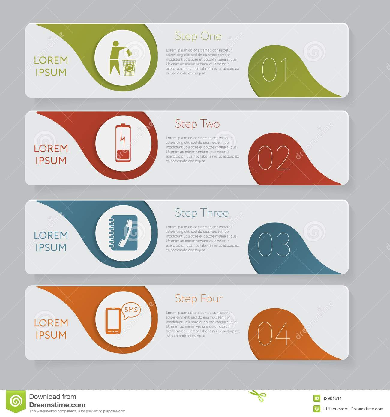 Infographic. Design Number Banners Template Graphic Or Website ...