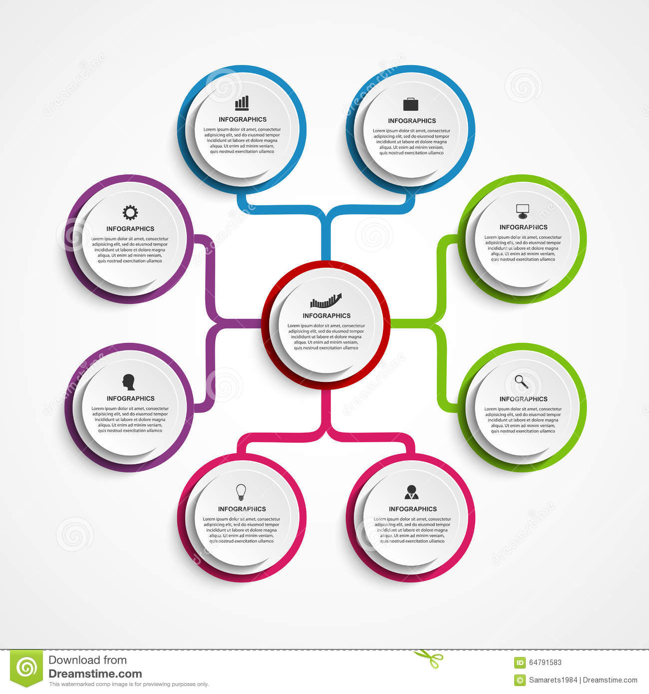 Infographic Design Organization Chart Template. Vector