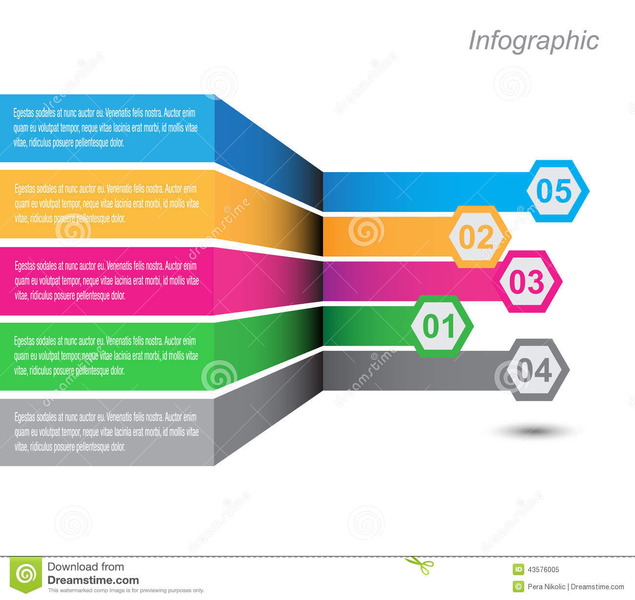 Infographic Design For Product Ranking Stock Vector