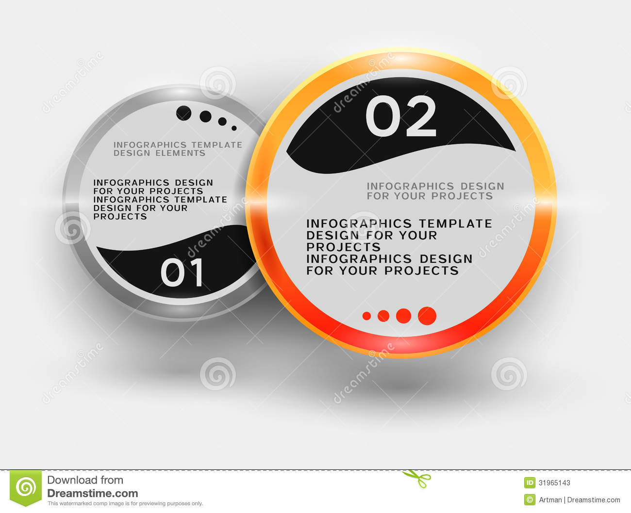 Infographic Design With Round Elements Stock Vector - Illustration ...