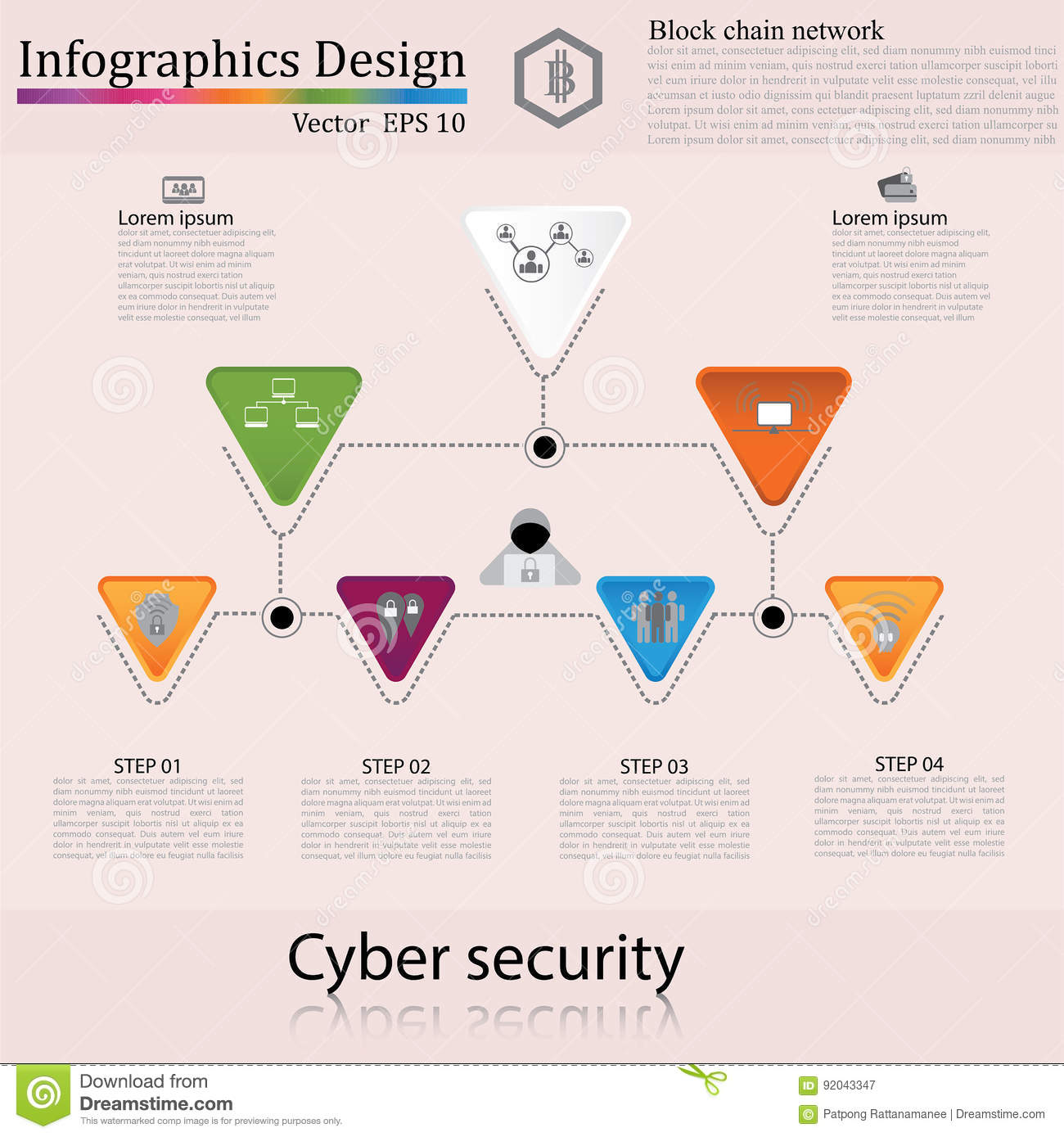 Infographic design template can be used for workflow layout dia royalty free vector download infographic ccuart Images