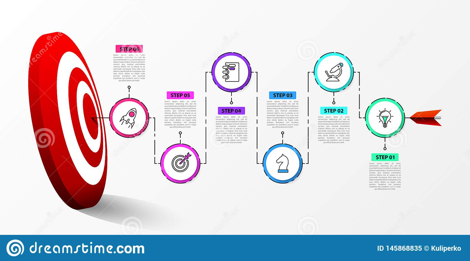 Infographic Design Template  Creative Concept With 6 Steps Stock